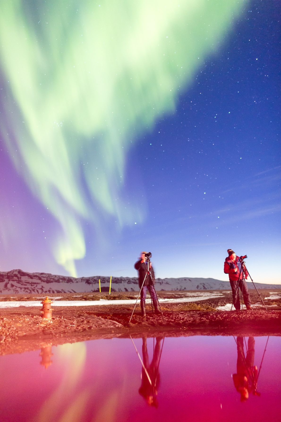 Aurora hunters by night, Gaukur Hjartarson is a civil engineer during the day, while his brother ...