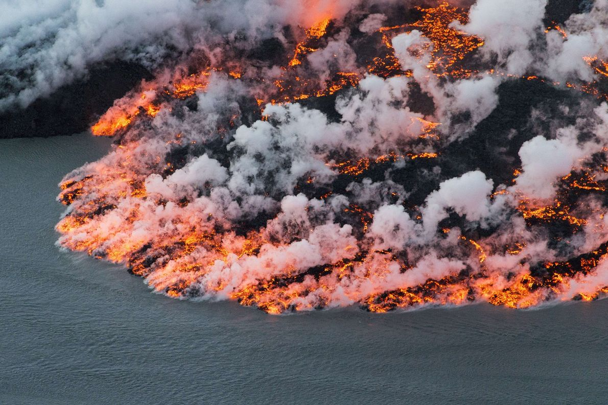 The Bárðarbunga volcano in Iceland is a zone of extremes: Its central crater is buried under ...