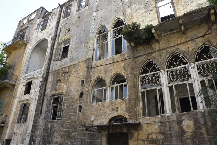 In the Ashrafiyeh neighbourhood, blown-out windows and other damage testify to the power of the explosion, ...