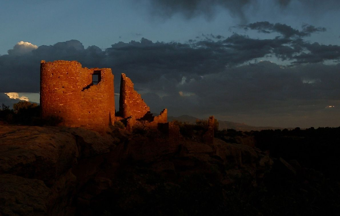 Most of the structures at Hovenweep Castle in southeastern Utah's Hovenweep National Monument were built by ...