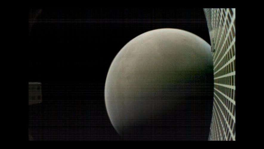 MarCO-B, one of the experimental CubeSats, took this image of Mars from about 4,700 miles away ...
