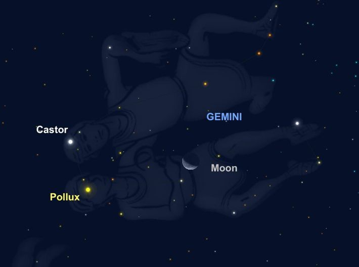 The moon will near Castor and Pollux, the glimmering anchors of the constellation Gemini, on September ...