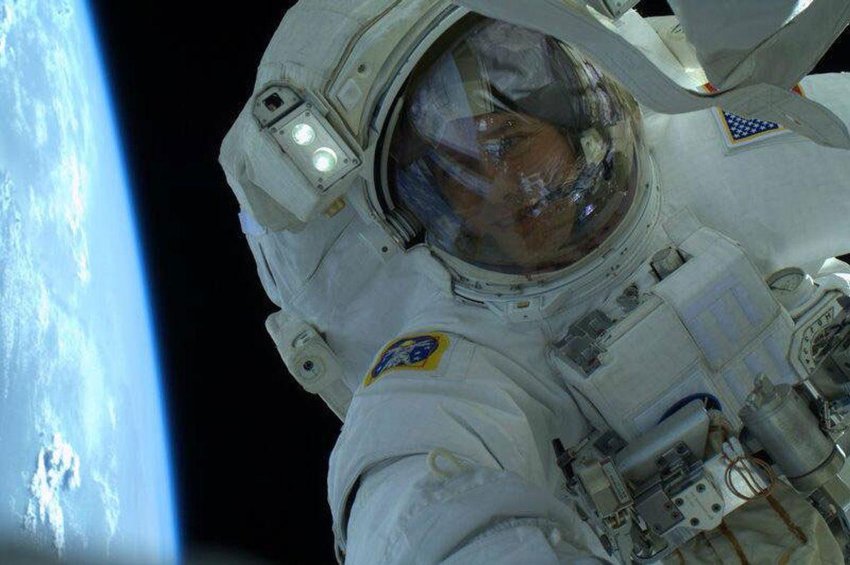 Astronaut Thomas Marshburn Tweeted this selfie in 2013.