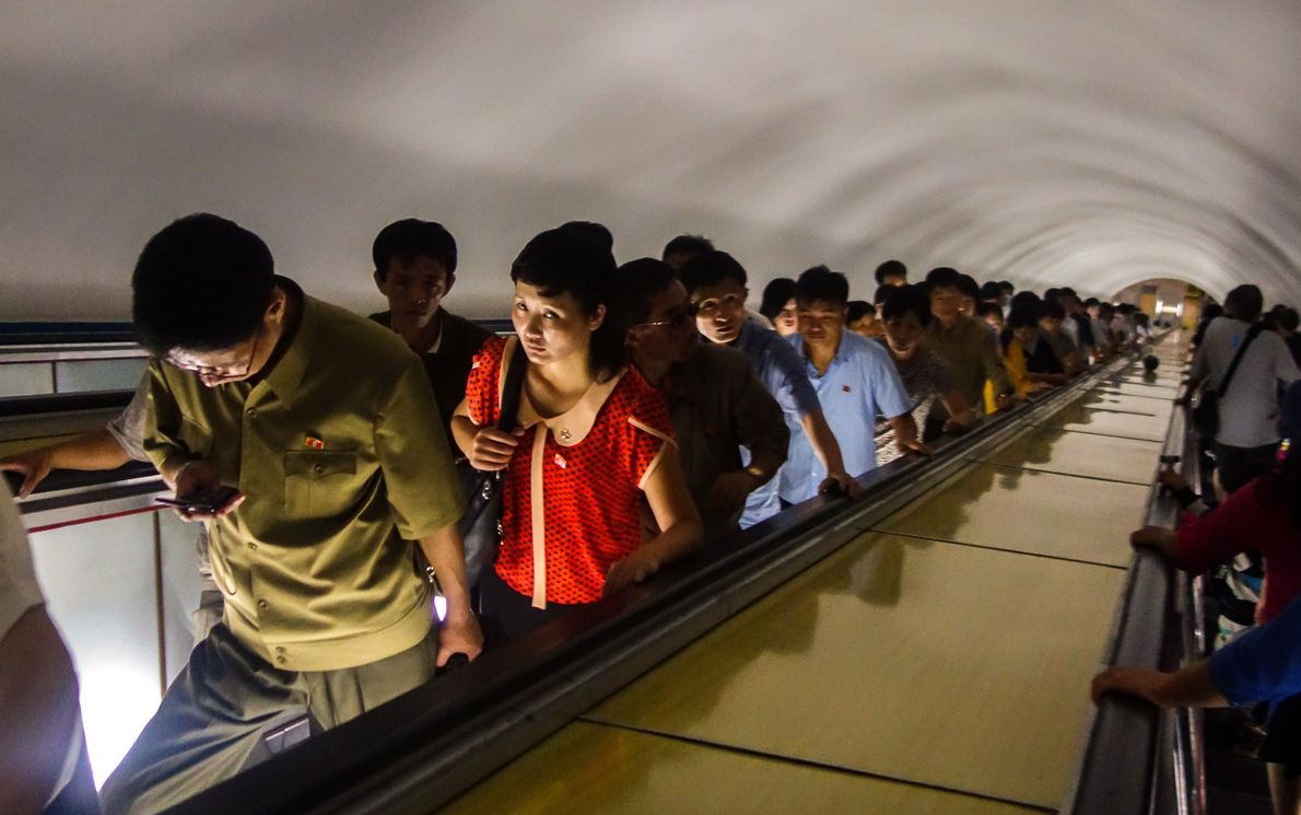 Pyongyang Metro is one of the world's deepest subway systems. The escalator ride down to the ...