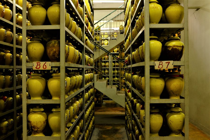 A second view of a Singapore Columbarium. Some of these facilities have been used to house ...