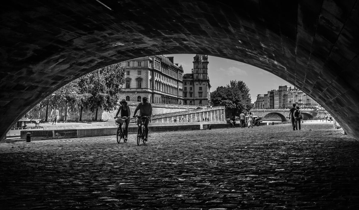 Cycle past Paris's monuments starting at Place de l'Alma, where you can admire one of the ...
