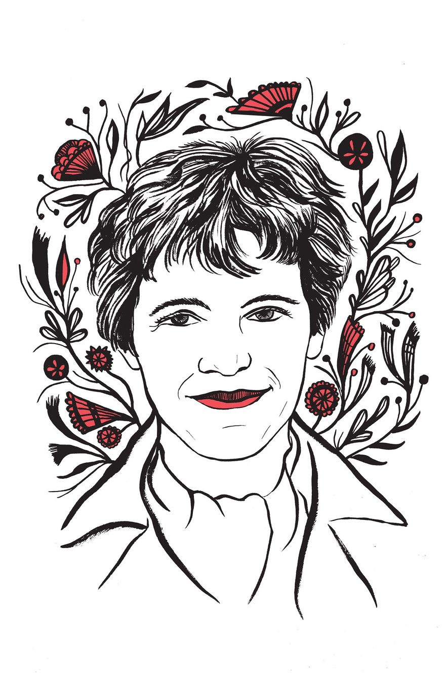 Illustration of Amelia Earhart by Kimberly Glyder for the book In Praise of Difficult Women.