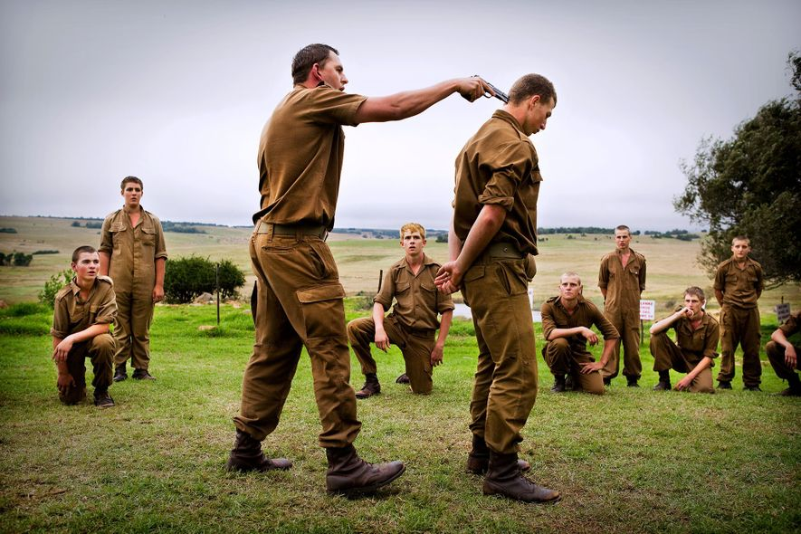 The Kommandokorps survivalist group in South Africa organizes camps during school holidays for young white Afrikaner ...