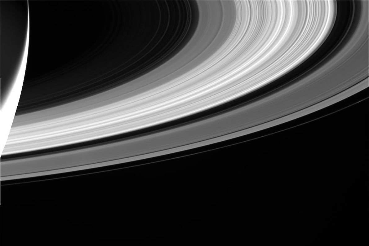 Cassini's camera captured this image of its iconic rings.