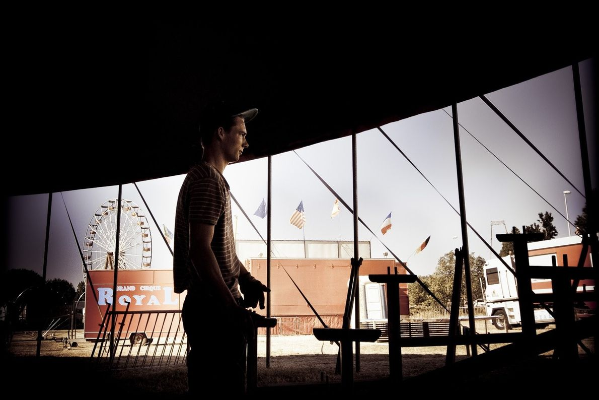 Your Shot photographer Francesca Torracchi documented this quiet moment as the Cirque Royal tent is being ...