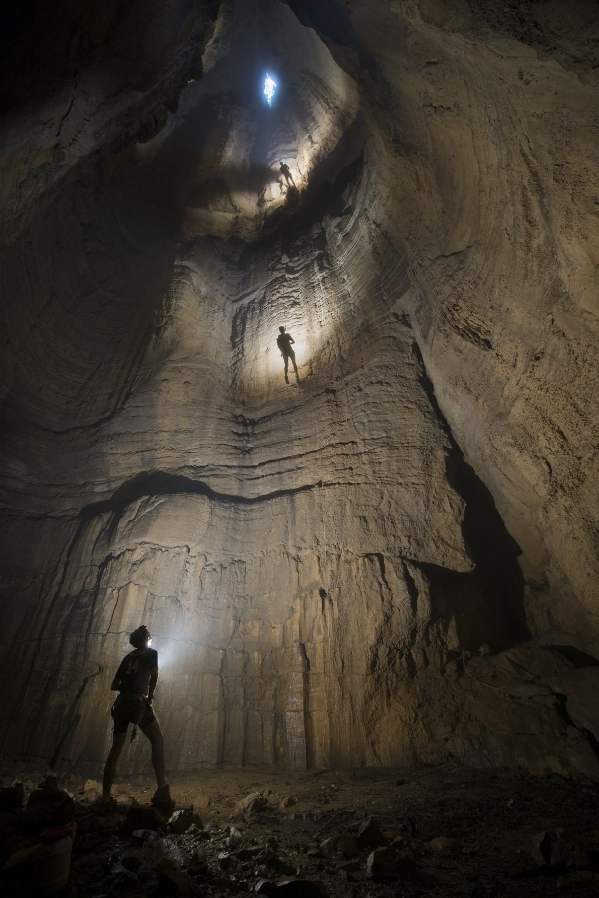Your Shot photographer Ethan Reuter made this image inside a chasm within the backwoods near Scottsboro, ...