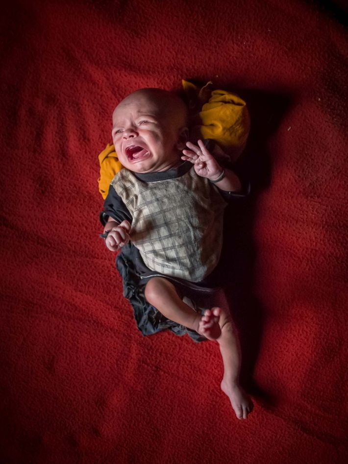 An unnamed 15-day-old baby. Not given citizenship by Myanmar or Bangladesh, Rohingya babies are born stateless ...