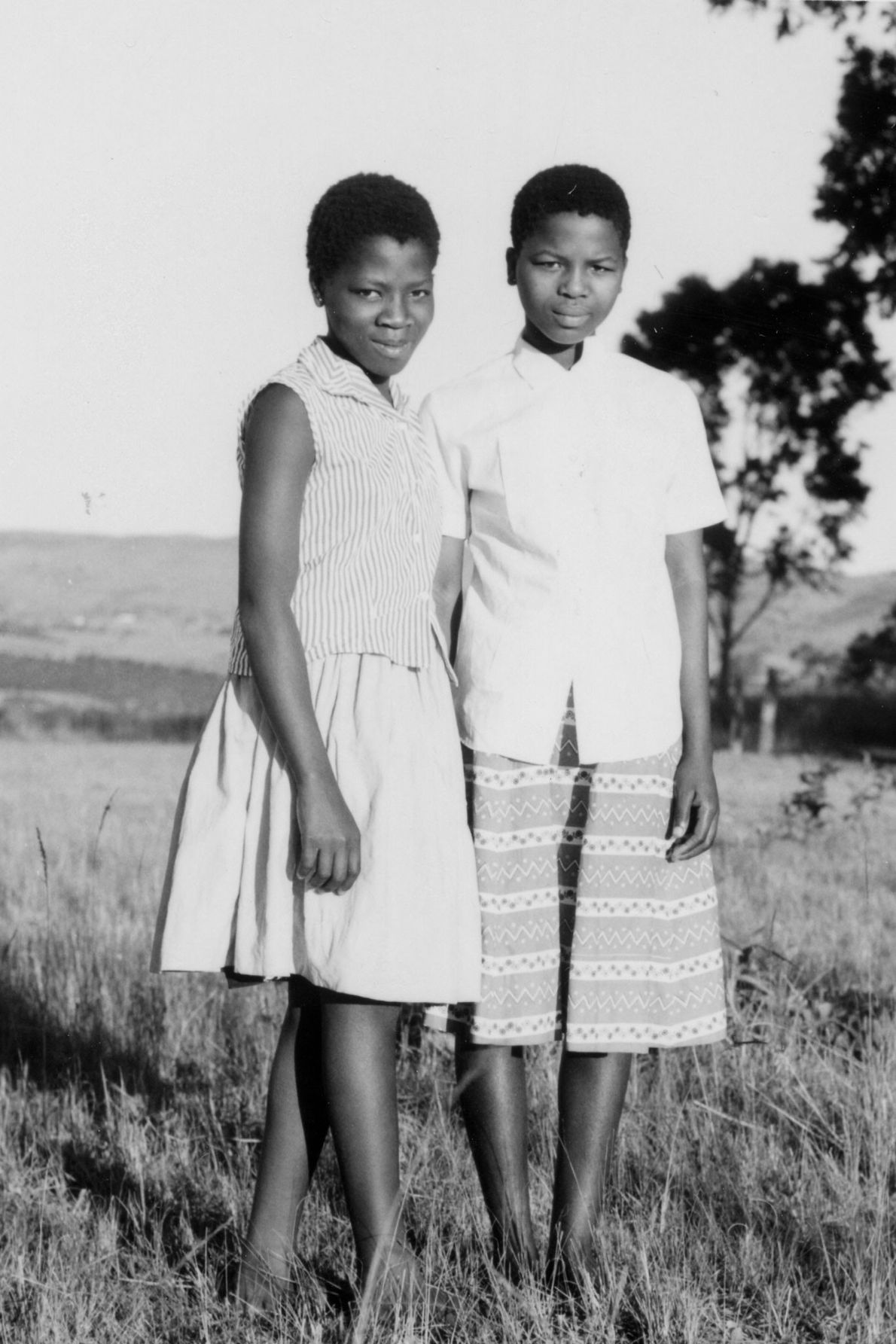 Nftombi Tfwala (right) and a daughter of King Sobhuza II of Eswantini, one of his some ...