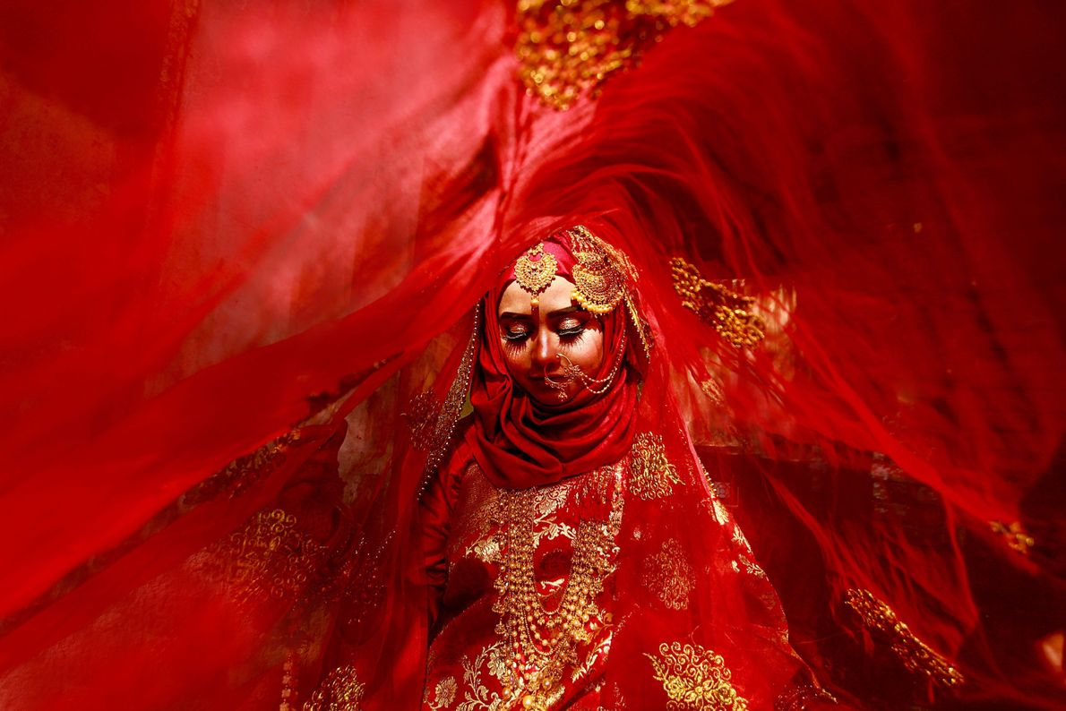 Your Shot photographer Ab Rashid made this portrait of a bride in Khulna, Bangladesh. Bengali brides ...
