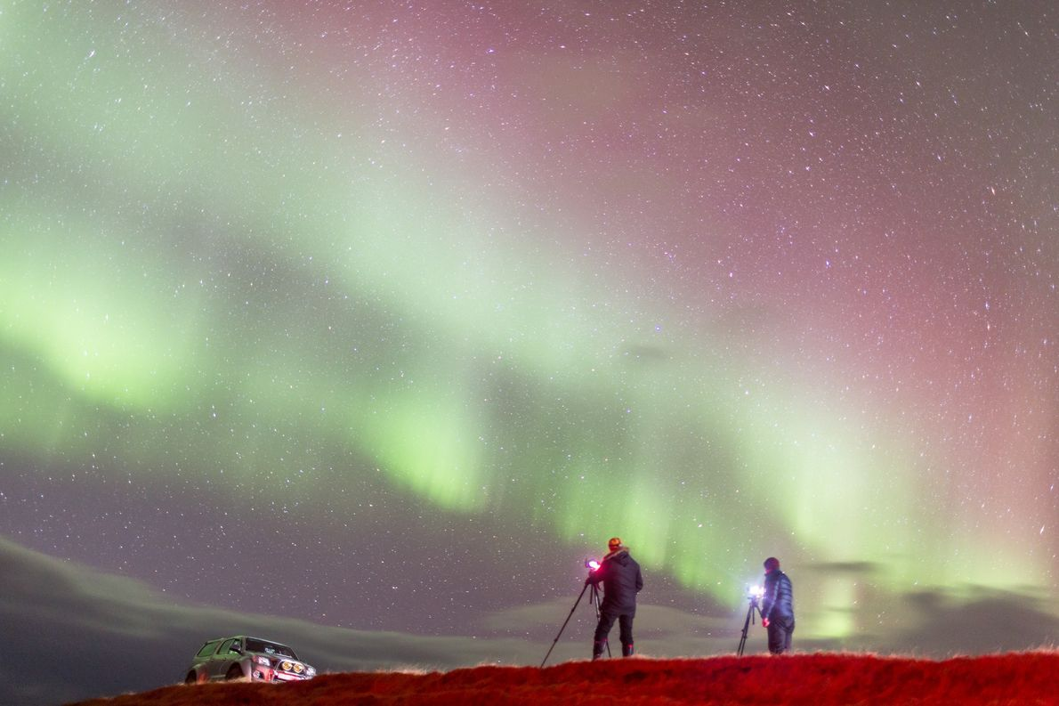 The Hjartarson brothers helped photographer Robert Omerod see his first aurora in person.