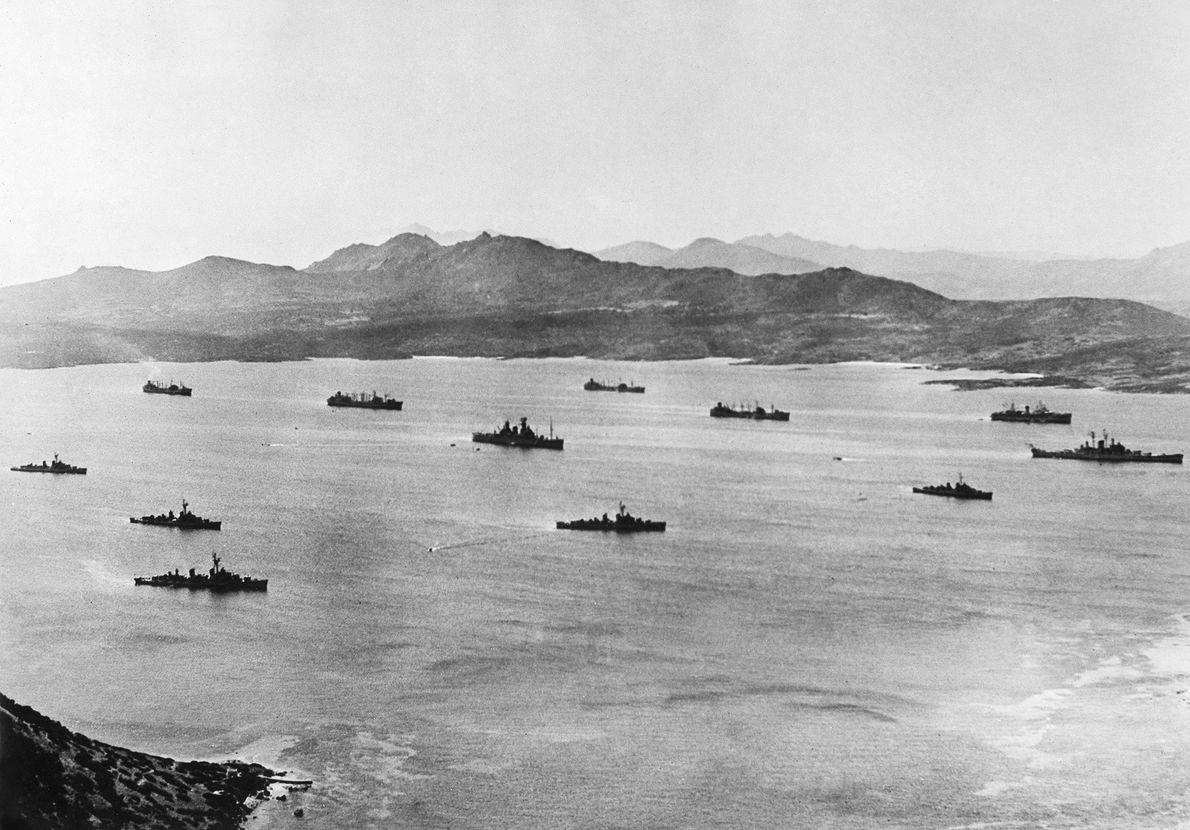 U.S. naval squadron located off the coast of Cuba (at the US base on Guantanamo Bay) ...