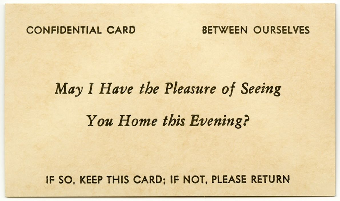 Many cards included a request to return it if the advance was unwelcome.