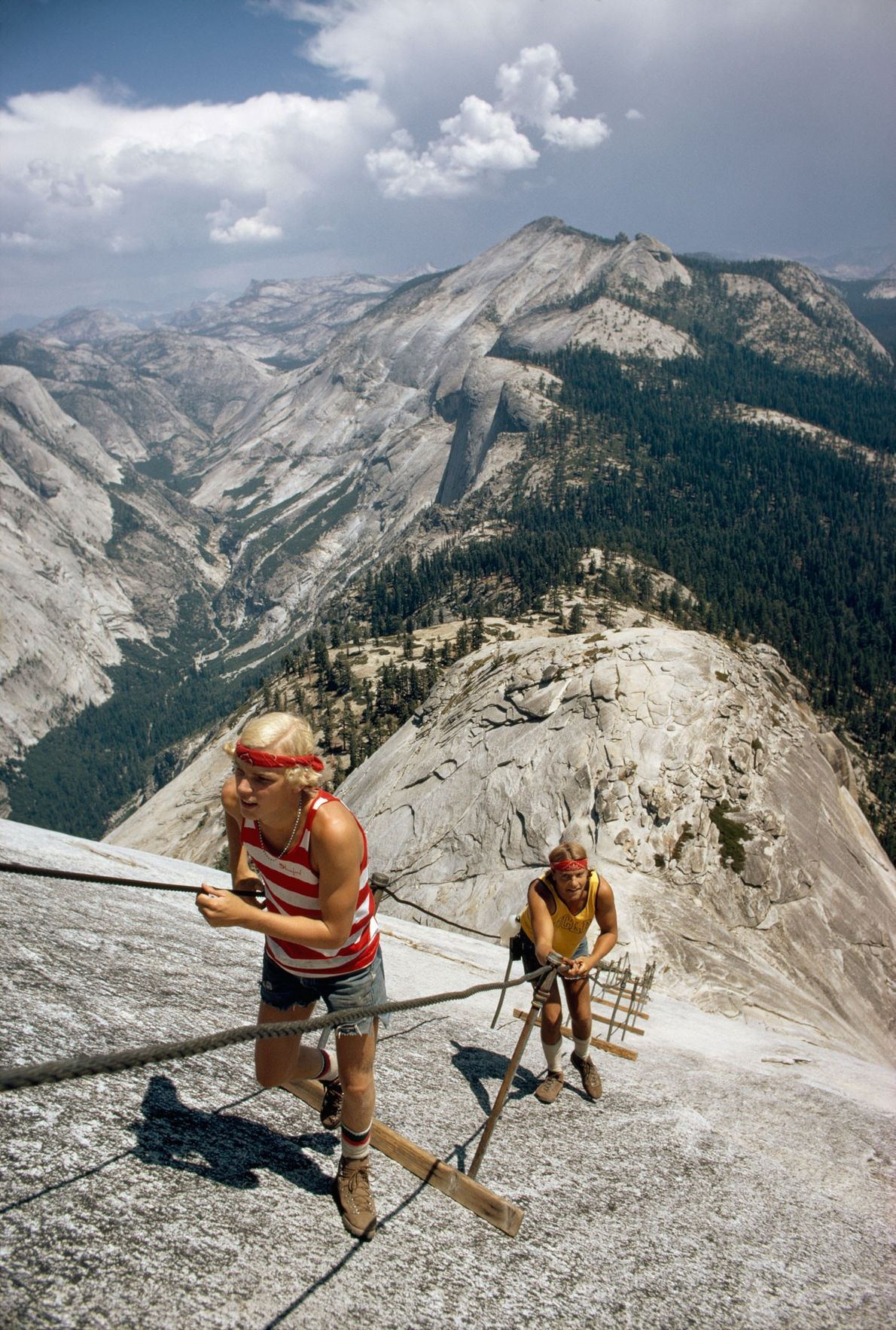 Rockfalls have changed the face of Half Dome, and climbers are adjusting to altered routes. This ...