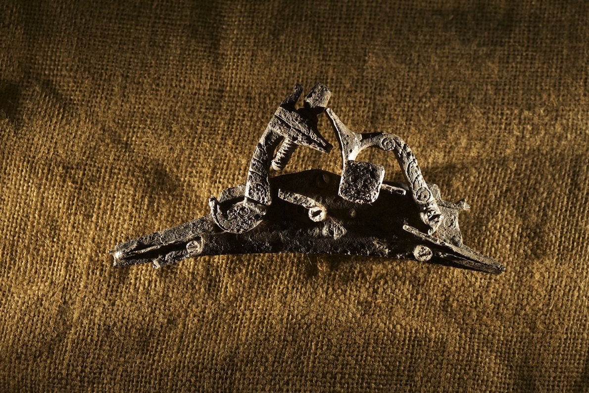 Gun parts were among the artefacts discovered at the Cape Creek site during excavations in 1998 ...