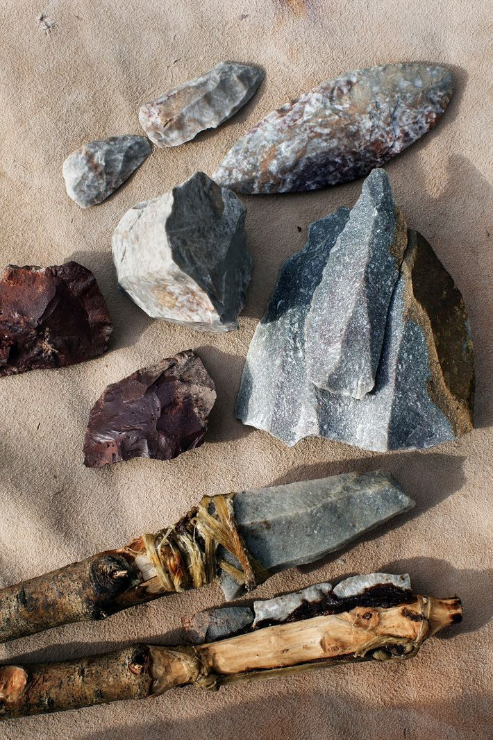 Projectile weapons made by early Homo sapiens, found at Pinnacle Point in South Africa, reflect the ...
