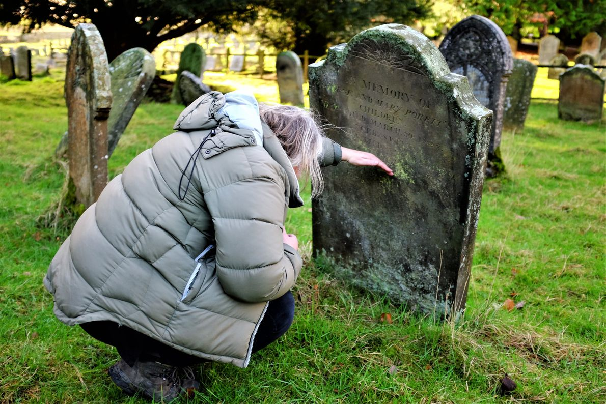 """Katie Thornton: """"English cemeteries are public libraries of stories. Individual headstones record lives, loves, and losses. ..."""