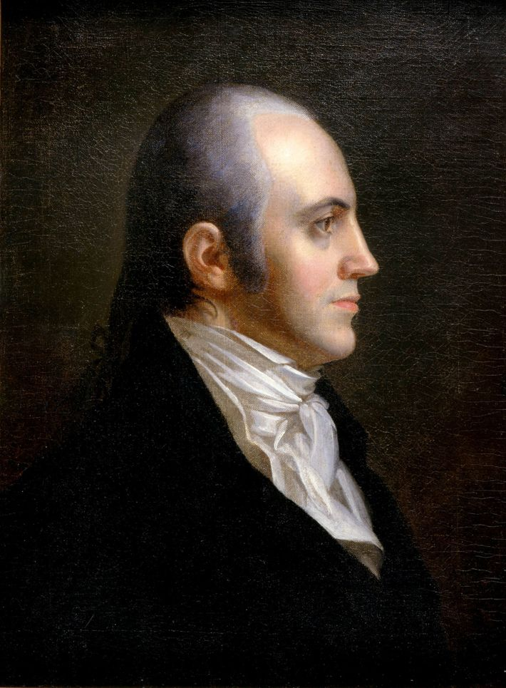 The young revolutionary soldier Aaron Burr married Theodosia Prevost even though she was a widow and ...