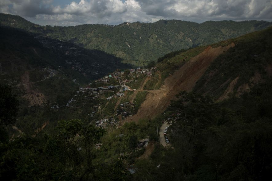 The landslide occurred on a steep hillside above the mining town of Itogon in the Cordellera ...