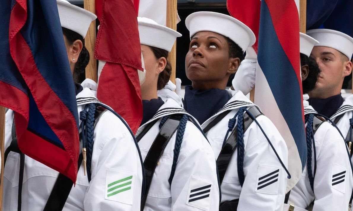 Your Shot photographer Victoria Pickering documented this moment during the flag ceremony at the Navy Memorial ...