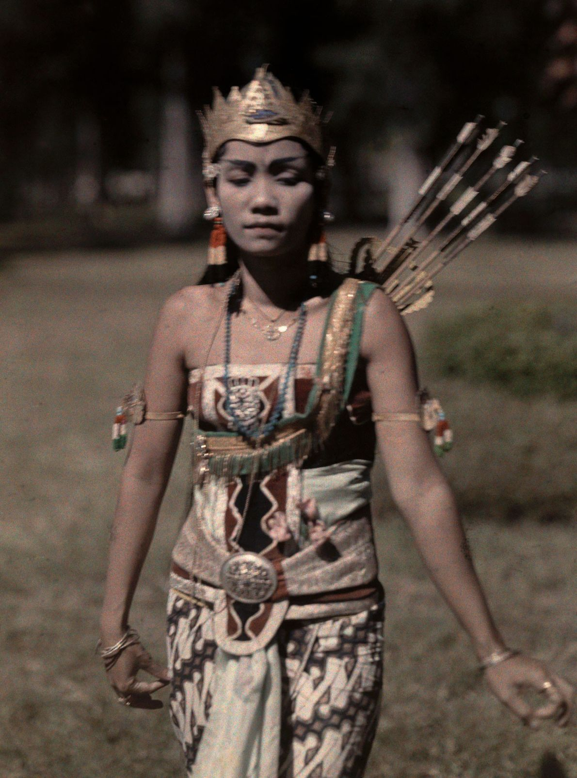 A wayang princess in Java, Indonesia, in 1929.