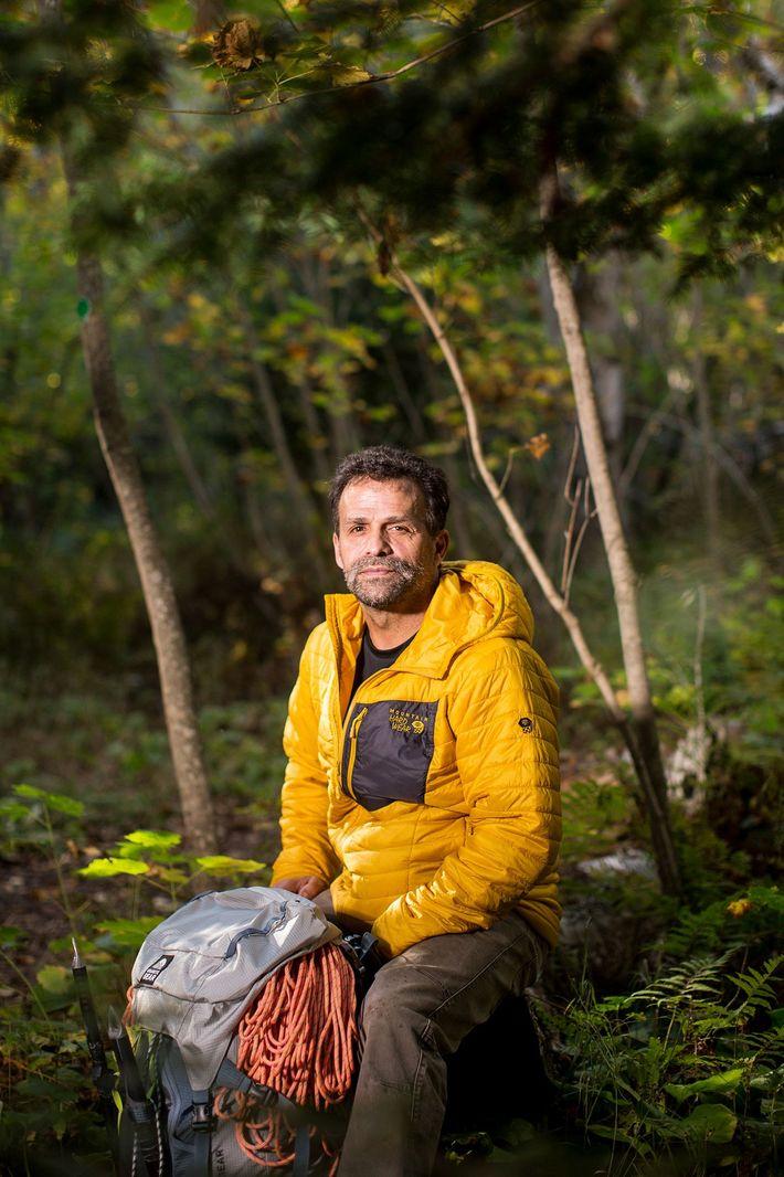 Dupre on a hiking trail near his home in Grand Marais, Minnesota.