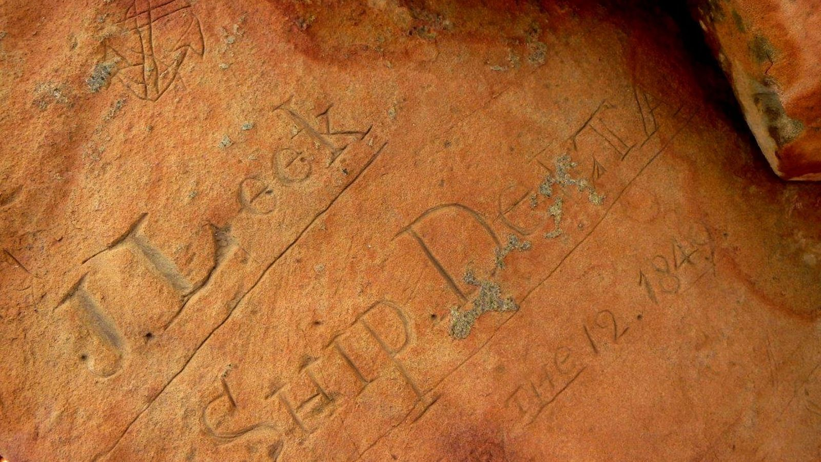 A sailor named J. Leek commemorated the arrival of his American whaling vessel Delta on the ...