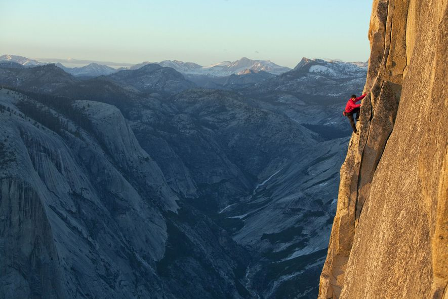 "Other climbers call him ""No Big Deal Honnold"" because of the way heunderplays his achievements, like ..."