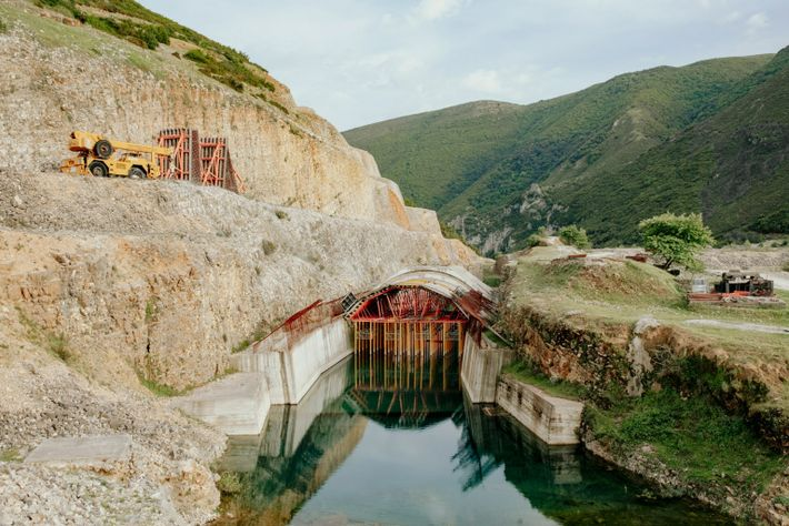 A stalled dam project in Kalivac.