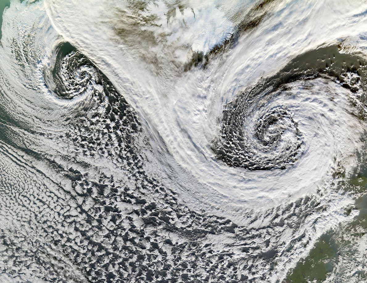 Storms on Earth don't all turn the same way. Thanks to what's known as the Coriolis ...