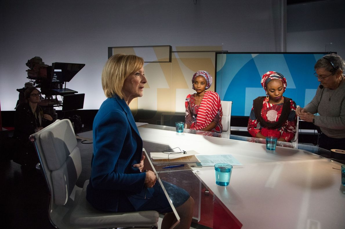 "Ya Kaka and Hauwa share their stories with PBS NewsHour anchor Judy Woodruff. ""Let the entire ..."