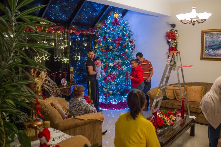 The Vela Quiñonez family loves Christmas so much that they designed their new house to accommodate ...