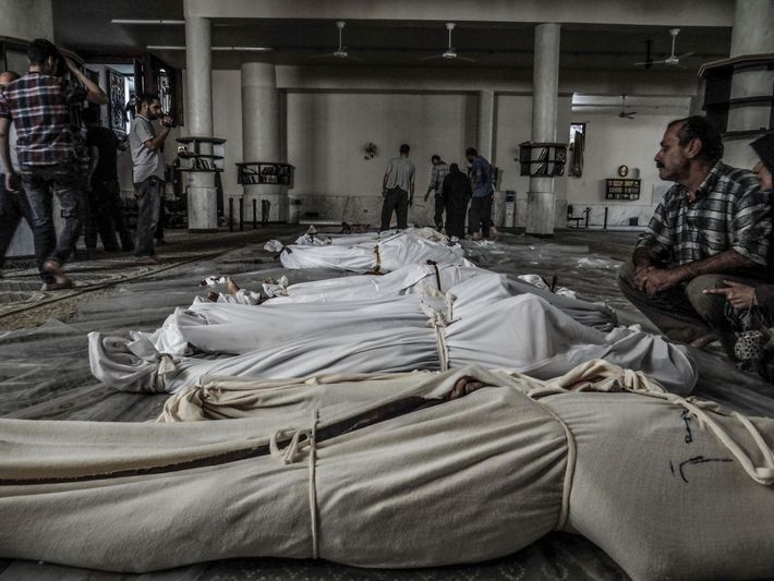 On August 21, 2013, a suspected chemical weapons attack on the Damascus suburb of Ghouta left ...