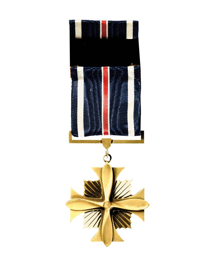 """As well as being the first woman to complete record-breaking solo flights, Earhart was also the first woman to receive the Distinguished Flying Cross, awarded to her by the U.S. Congress in 1932 for """"heroism or extraordinary achievement while participating in an aerial flight."""""""
