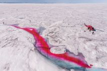 The Greenland ice sheet is shrinking, both as the edges collapse into the sea and as ...