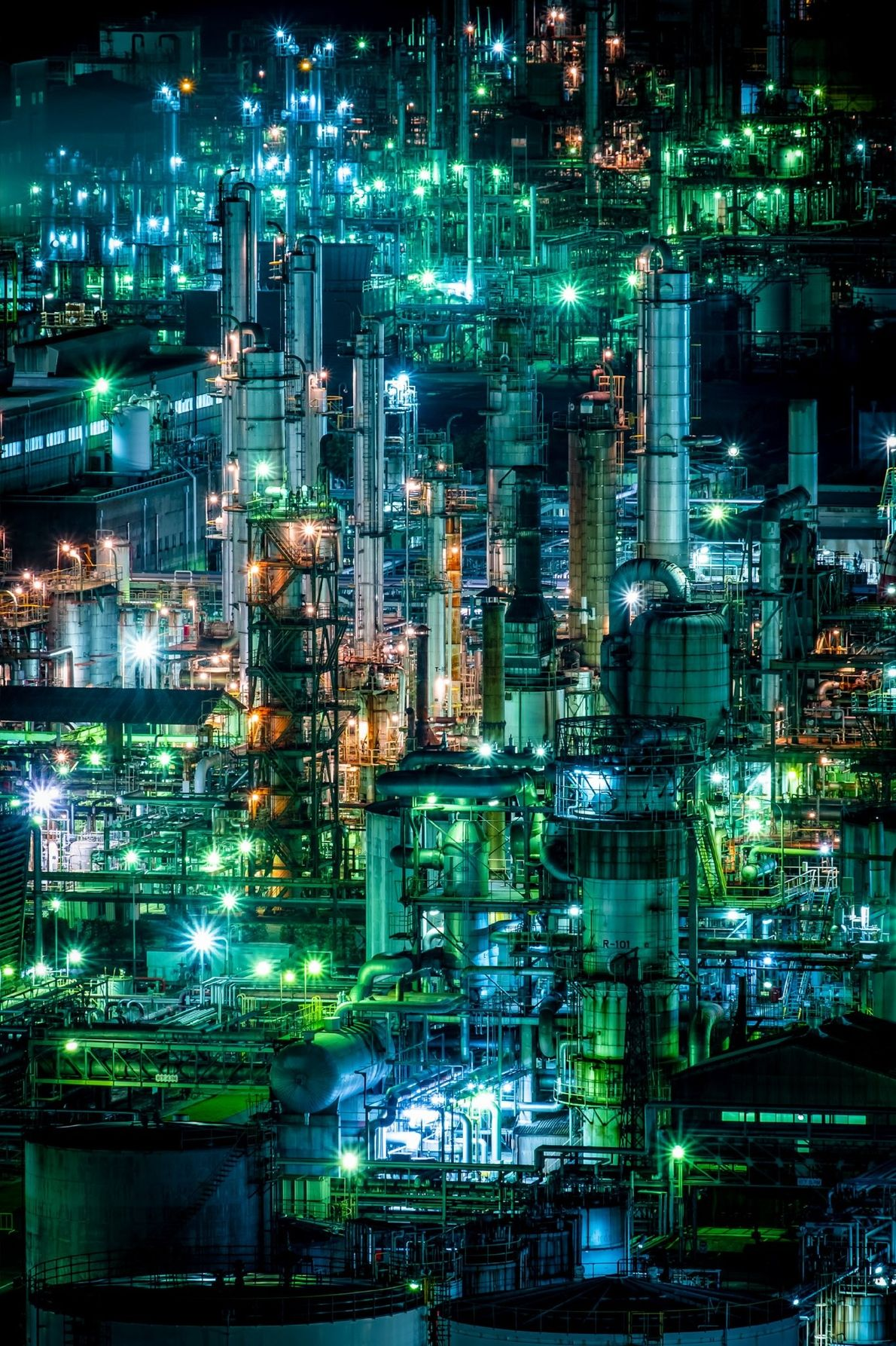 Your Shot photographer Michael Vong documented this industrial scene in Tokyo reminiscient of a science fiction ...