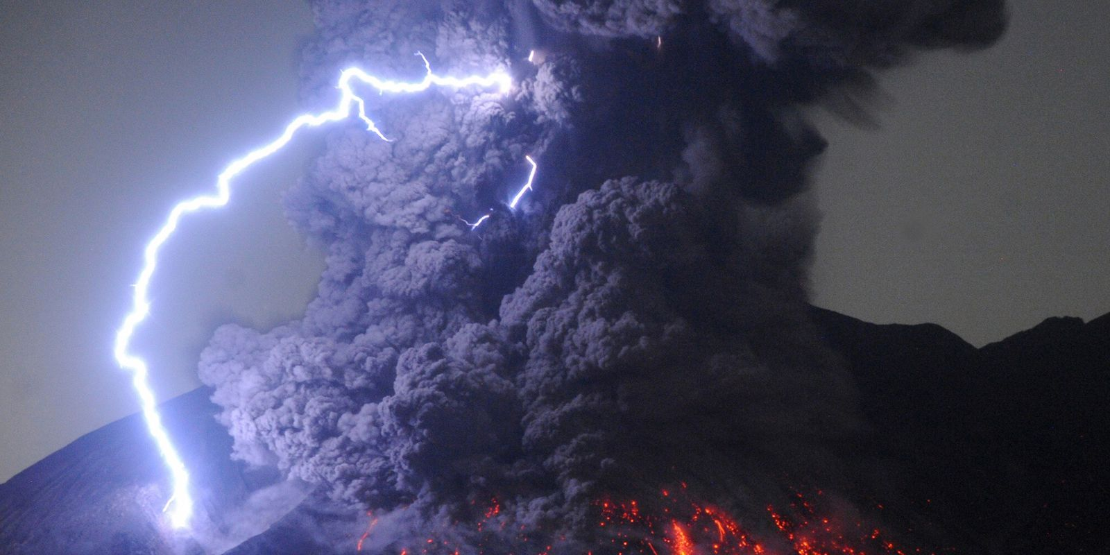 Dramatic photos of volcanoes in action around the world