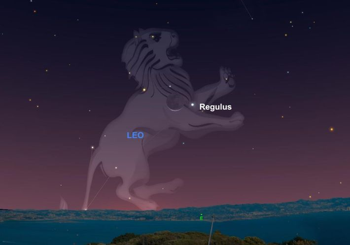 In 1940, photons of light erupted from the star Regulus, the heart of the constellation Leo. ...