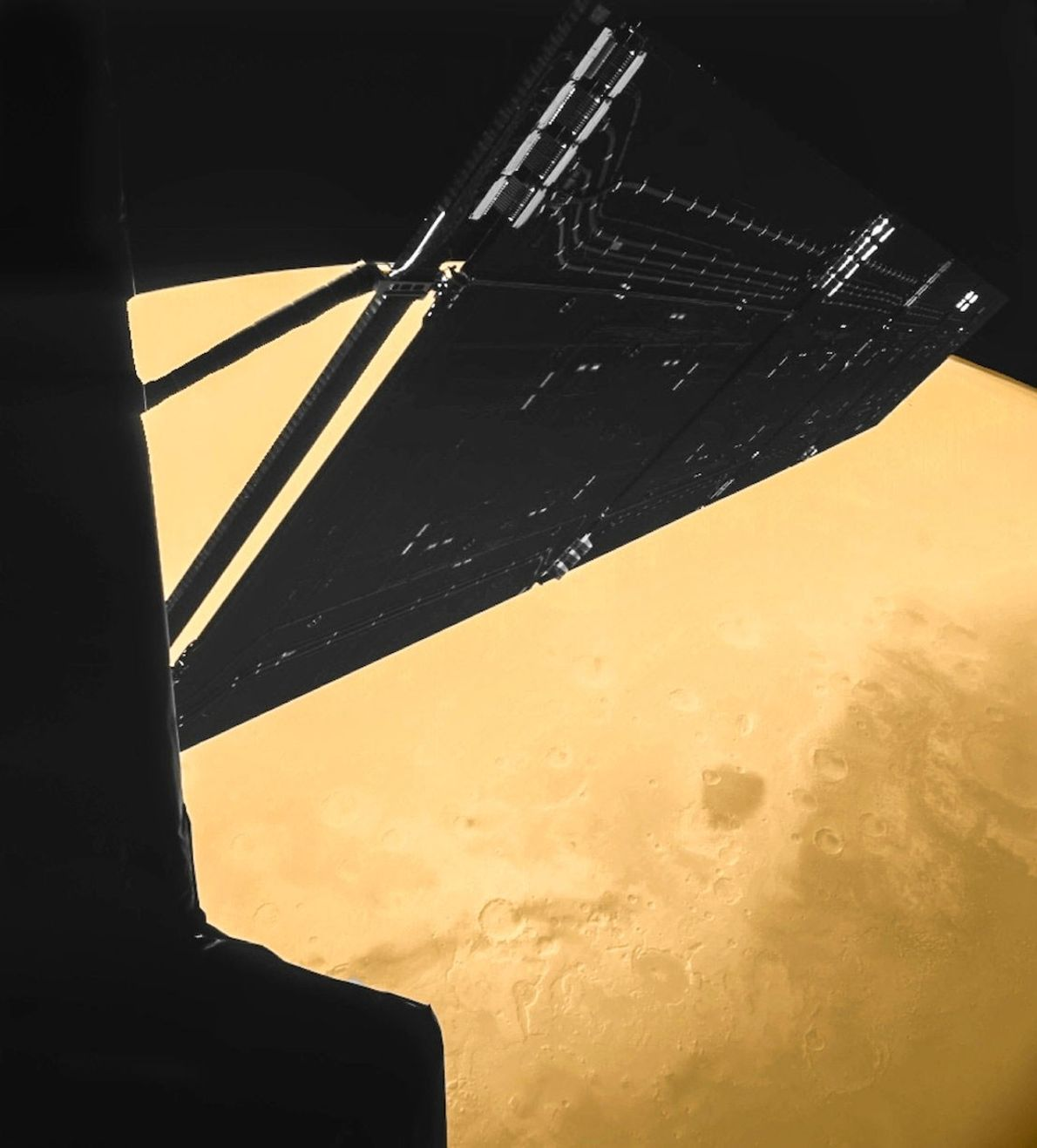 In 2007, the Rosetta spacecraft passed just 155 miles from the surface of Mars on its ...