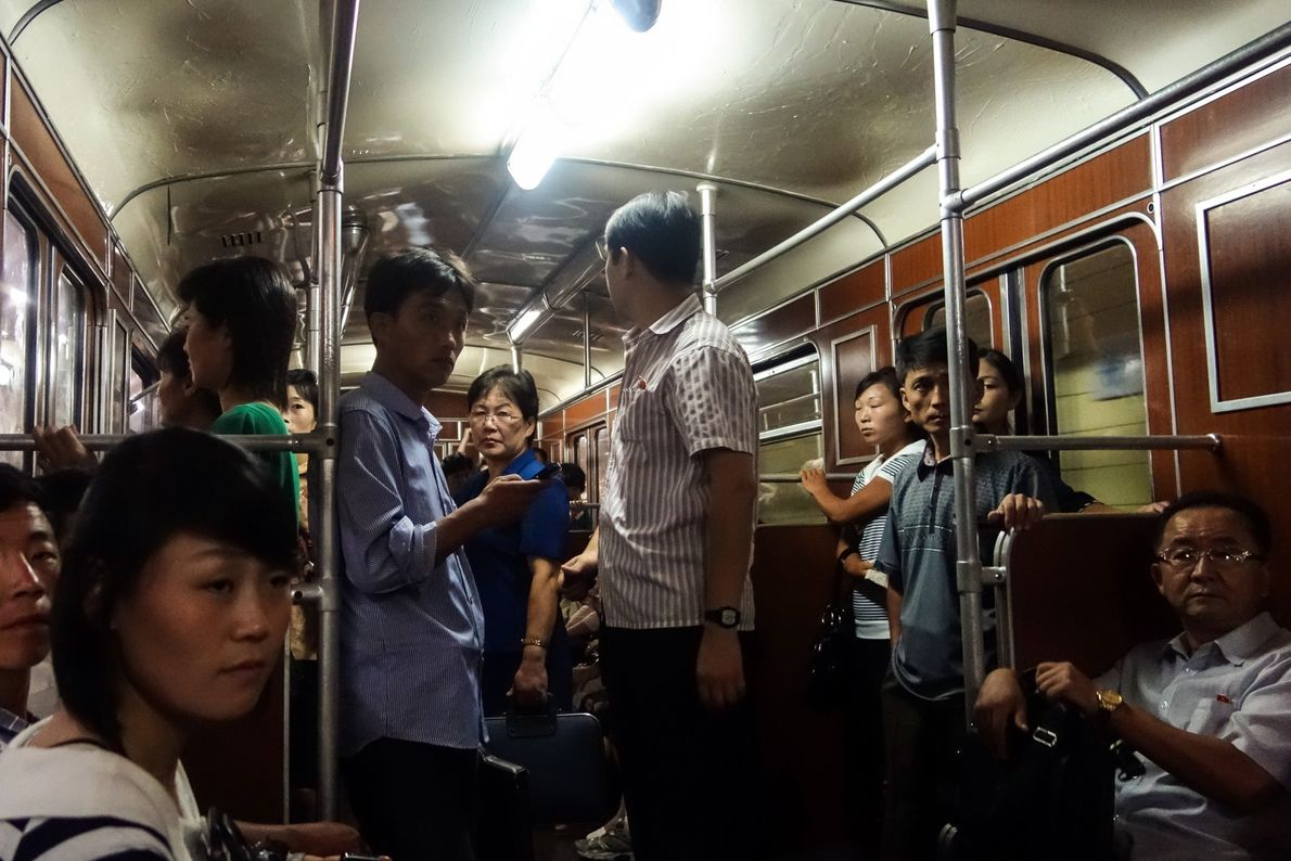 "Davies says that while he rode the metro with other tourists, ""Commuters were nothing but polite, ..."