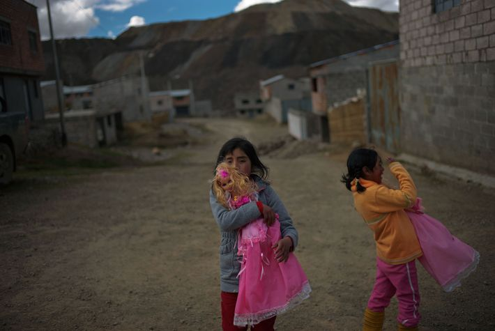 Nine-year-old Leydi Gonzales (left) and sister Sonia, 8, have levels of lead in their blood that ...