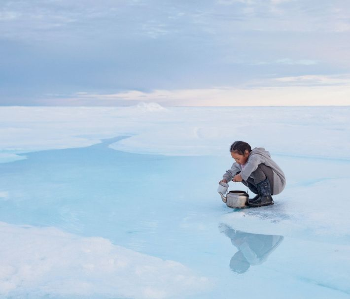 When sea ice ages, the salt sinks into the ocean, leaving fresh, drinkable water on top. ...