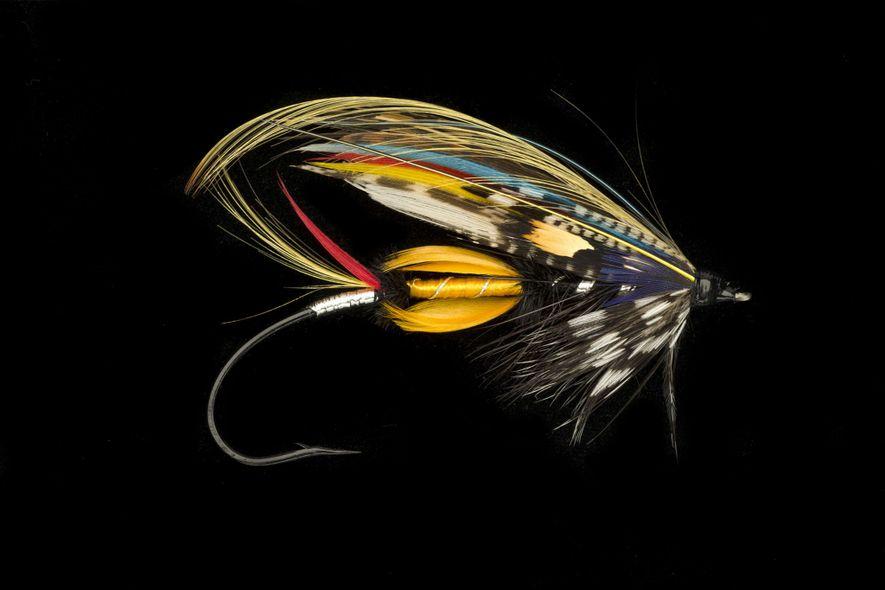 Edwin Rist was a champion tier of salmon flies like this classic, the Jock Scott.