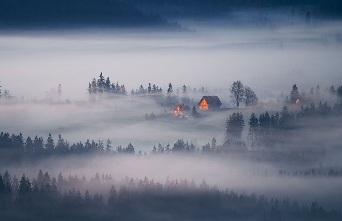 Your Shot photographer Marcin Sobas captured this moody sunrise in the Beskids mountains in Poland.