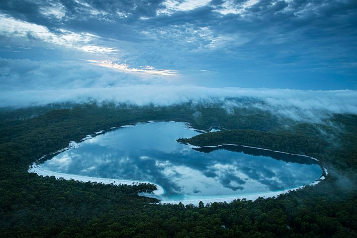 Lake Mckenzie, a freshwater lake, is one of the main tourist draws on the island and ...