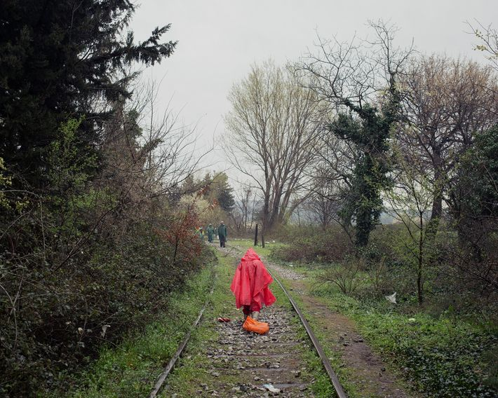 A little girl collects small pieces of wood along railway tracks. What she brings back to ...